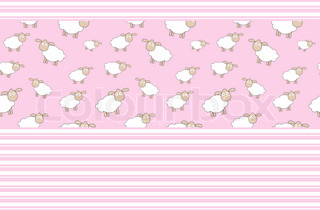 Abstract lamb background vector illustration