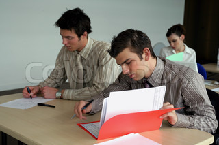 Students hard at work in class