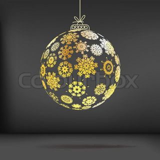 Christmas ball made from snowflakes + EPS10