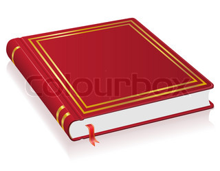 red book with bookmark illustration