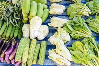 Fresh organic vegetables on local market