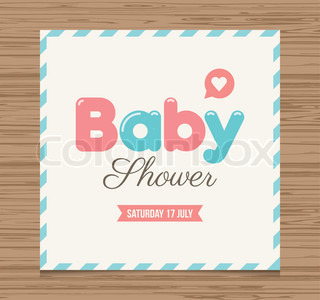 baby shower card baby girl balloons type font vector design vector