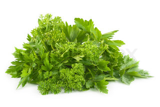 Fresh parsley and celery.