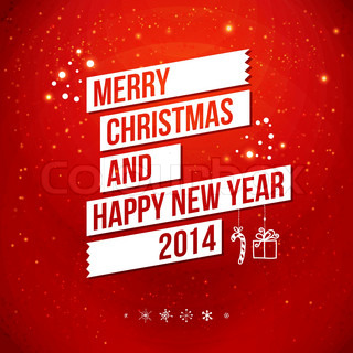 Merry Christmas and Happy New Year 2014 card