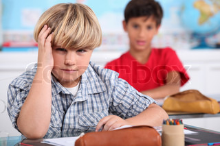 Two kids in classroom