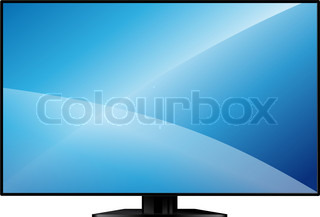 9b853c8b8c6 TV with a large blank screen