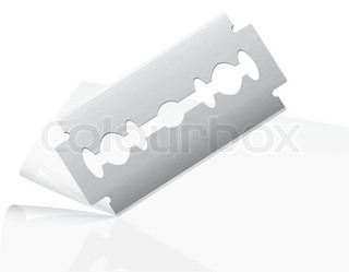 blade cuts paper vector illustration