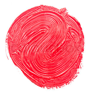 Red paint drawn with brush stroke