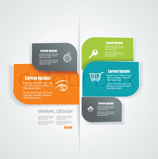Vector template for interface or infographic ready to place for your content