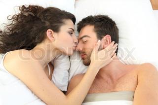 wife and husband bed romance