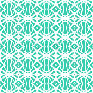 1920s art deco pattern in tropical aqua blue Texture for web, print, spring fashion fabric, textile, background for invitation