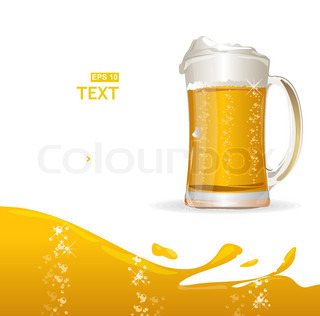 Bierkrug hintergrund f r text stock vektor colourbox for Tegee glas schaum glanz