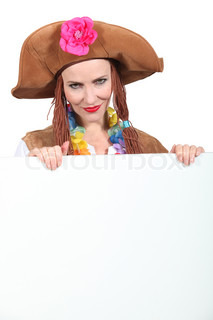 woman in a pirate outfit