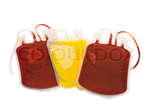Bag of blood isolated on white background | Stock Photo ...