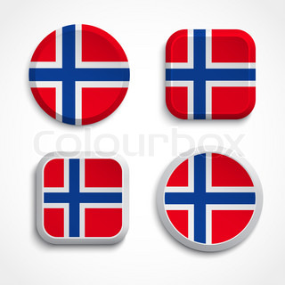Norway flag buttons