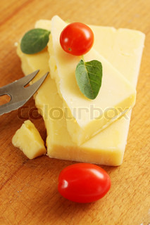 cheese with a knife