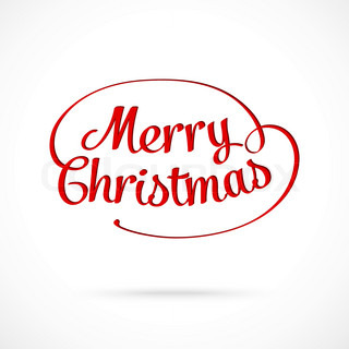 Merry Christmas typographic greeting card