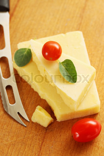 soft cheese with a knife