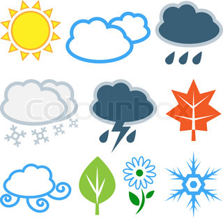 Weather and seasons Vector set