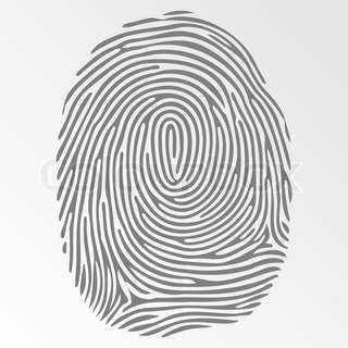 Vector dark fingerprint on gray background