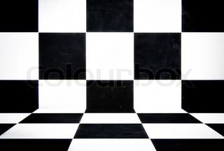 Black and white cube