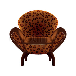 chair in leopard-print upholstery