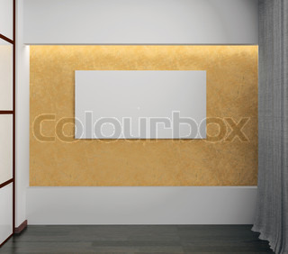 leerer wei er raum stock foto colourbox. Black Bedroom Furniture Sets. Home Design Ideas