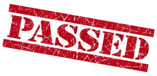 Passed grunge red stamp