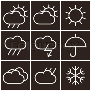 Weather signs in black and white