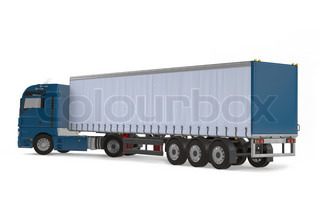 Cargo delivery vehicle truck back