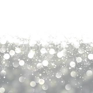 Silver Abstract Texture With Brigth Falling Sparkles
