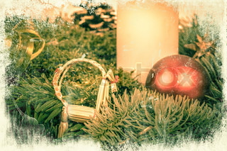 Christmas decoration in retro colors