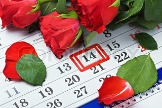 date of February 14 Valentine's day