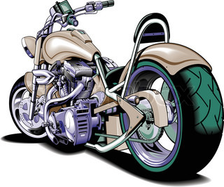 Cartoon Motorcycle Isolated On White Background Vector
