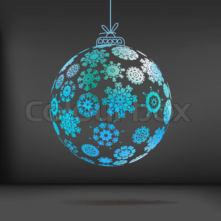 Christmas ball made from snowflakes. + EPS10