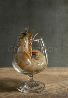 Still life with king prawn cocktail