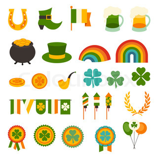 St. Patrick's Day Icons set.
