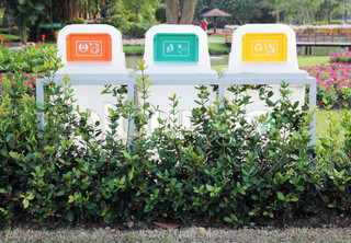 Recycle Bins In The Park