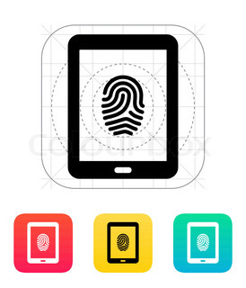 Tablet fingerprint icon.