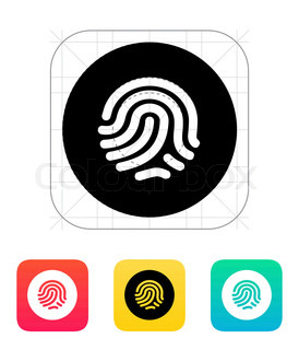 Thumbprint scanner icon.
