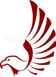 Red eagle with wings
