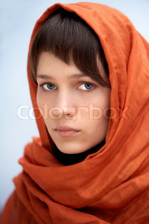 attractive woman with veil