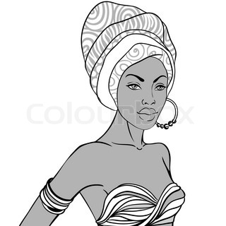 how to draw an african woman step by step