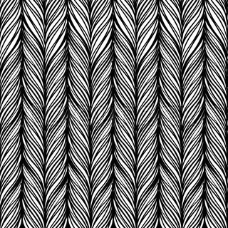 Optical illusion: Black and white abstract seamless pattern. Texture of wavy vertical stripes.