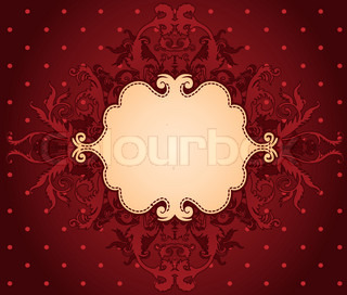 Vintage background ornate baroque pattern