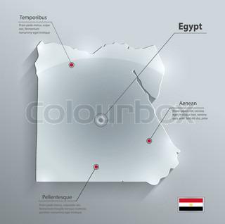 Vectors D Map Of Egypt Stock Vector Colourbox - Map of egypt 3d