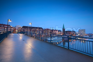 bridge over river in Bremen