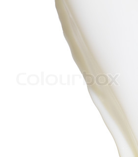 milk on a white background