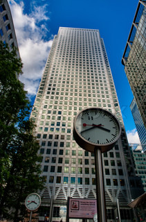 Canary Wharf modern skyscrapers - London