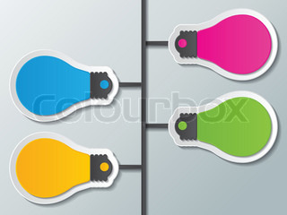 six blank colorful paper speech bubbles infographic elements